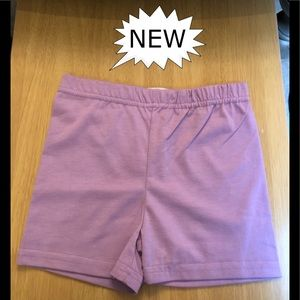 Bike Shorts, Dark Lilac, Girls, Various Sizes.